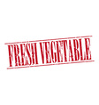 fresh vegetable red grunge vintage stamp isolated vector image vector image
