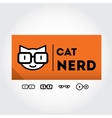 Funny nerd sign with glasses - design element vector image vector image