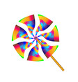 gradient multicolored toy paper windmill vector image