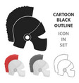 helmet icon in cartoon style isolated on white vector image vector image