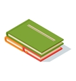 Isometric book icon vector image