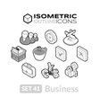 Isometric outline icons set 41 vector image vector image