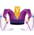 jester hat with beads vector image vector image