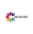 join venture business company logo symbol vector image