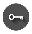 key icon in flat style unlock symbol for web site vector image