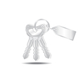 Keys and tags isolated vector image