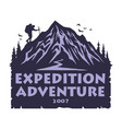 logo mountain camping hiking adventure vector image