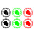 made in reunion rubber stamp vector image vector image