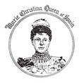 marie christina vintage vector image vector image