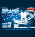 mint toothpaste concept isolated on blue tooth vector image