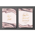 modern design wedding invitation liquid vector image vector image