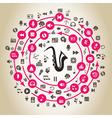 Music circulation vector image vector image