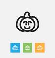 of vegetable symbol on pumpkin vector image