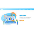 online students education horizontal banner vector image vector image