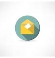 Open yellow envelope vector image vector image