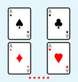playing cards icon color fill style vector image
