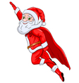 santa claus flying in air vector image vector image