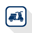 scooter flat icon vector image vector image