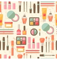 Seamless grunge background with cosmetics flat vector image vector image