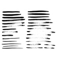 Set of different grunge brush strokes vector image vector image
