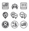 Simple Set of Taxi Related Icons vector image vector image