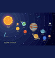 space solar system concept background flat style vector image vector image