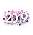 spectrum 2019 new year background with pink vector image