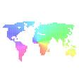 spectrum sphere dot world map vector image
