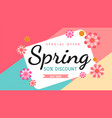 spring banner vector image vector image