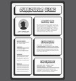 strong and bold black resume template vector image vector image
