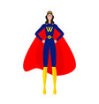 super hero girl vector image vector image