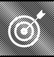 target with dart icon hole in moire vector image