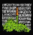 the concept of a healthy lifestyle vector image
