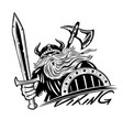 viking with sword and shield vector image vector image