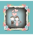 wedding frame design vector image