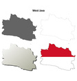 West Java blank outline map set vector image vector image
