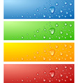 Wet surfaces vector image