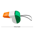 Whistle of Ivory Coast vector image