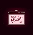 world music day celebration style banner vector image vector image