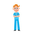 young male doctor therapist intern in scrubs vector image vector image