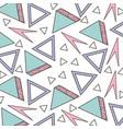 memphis style pattern triangle geometric shape vector image