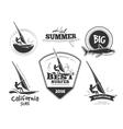 Retro surf emblems and labels set vector image
