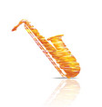 saxophone music instrument colorful vector image