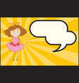 a queen with speech balloon vector image vector image