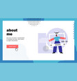 about me website landing page vector image