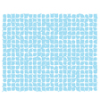 abstract blue deformed squares vector image vector image