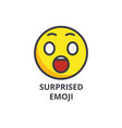 amusing emoji line icon sign vector image