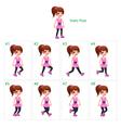 animation girl walking vector image vector image