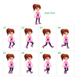 Animation of girl walking vector image vector image