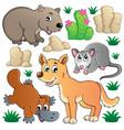 australian wildlife fauna set 1 vector image